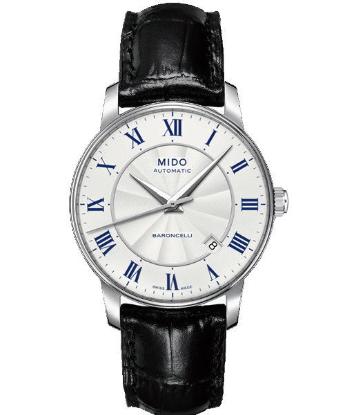 MIDO 美度 Baroncelli II 羅馬假期機械手錶-銀/黑 M86004214