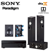 SONY STR-DH790 擴大機 + Paradigm Monitor 7+Center 1+H65-IW 5聲道家庭劇院組合【公司貨保固+免運】