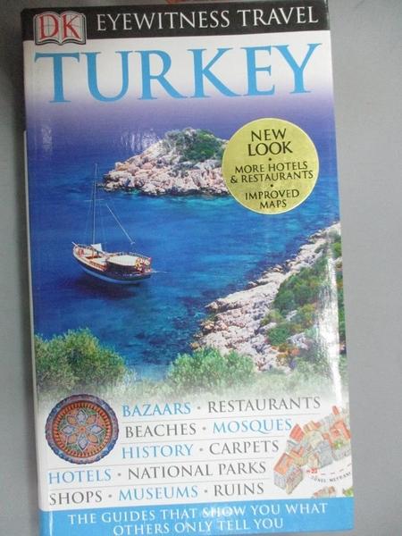 【書寶二手書T9/地理_NLX】Dk Eyewitness Travel Guides Turkey_Swan, Suzanne