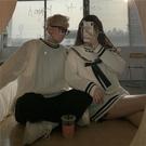 情侶裝 麻花毛衣女2021春季新款海軍領寬鬆外穿慵懶風情侶裝針織衫上衣【快速出貨八折搶購】