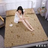 夏涼席床雙人可折疊草席1米寬冰絲席單人床0.9學生宿舍 QQ28366『東京衣社』