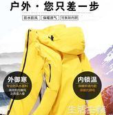 登山服 戶外沖鋒衣男女潮牌三合一可拆卸兩件套秋冬季滑雪加厚登山服西藏 生活主義