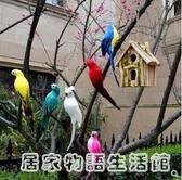 創意仿真羽毛鳥金剛彩色鸚鵡假鳥擺件花園櫥窗裝飾道具工藝品掛件 雙十一全館免運