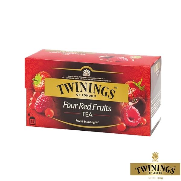 【TWININGS 唐寧】四紅果茶 Four Red Fruits 2gX25入(盒)
