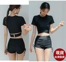 依芝鎂-V220泳褲單售女生側繫帶防走光泳褲子短褲M-3L,售價350元