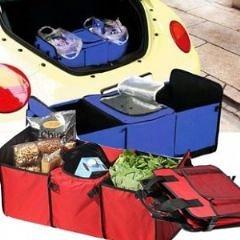 汽車保鮮收納整理箱 後車箱收納 汽車雜物收納箱-艾發現
