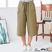 【Tiara Tiara】百貨同步新品ss 純色綁帶雙口袋5分褲(藍/綠)