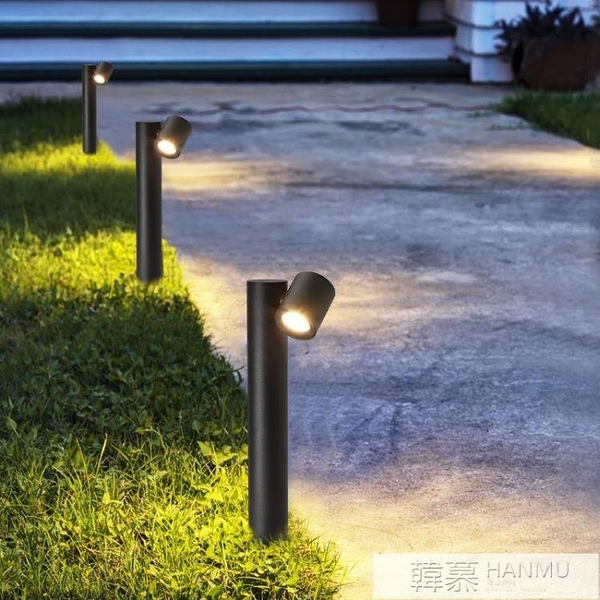 LED戶外防水草坪燈 現代花園庭院燈 創意鋁材雙頭戶外庭院景觀燈 夏季新品