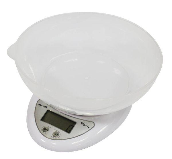 (SA+)5公斤家用液晶電子秤/料理秤/烘培秤(B05W)-帶碗★免運★