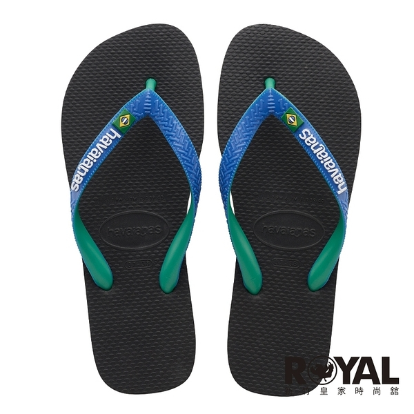 Havaianas Brasil Mix 哈瓦仕 黑 國旗 拖鞋 男款 NO.H3360【新竹皇家4123206-3768U】