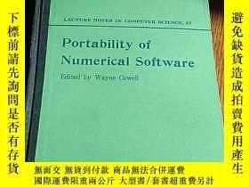 二手書博民逛書店PORTABILITY罕見of Numerical softwa