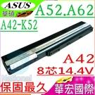 ASUS 電池(8芯 14.4V)-華碩  A42,A52,A62,A42JA,A42JB,A42JC,A42JE,A42JP,A52JR,A52JC,A32-K52,A42-K52