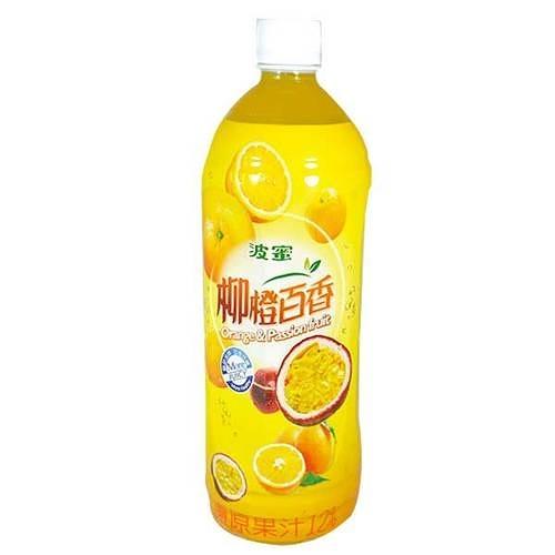 波蜜 柳橙百香綜合果汁飲料 980ml