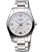 LONGINES 浪琴 Conquest Classic 經典時尚機械腕錶/手錶-白/銀 L27854766