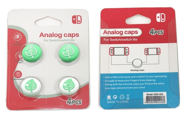 switch搖桿帽 動物之森amibo搖桿帽 switch lite硅膠搖桿保護帽