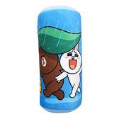 【享夢城堡】LINE FRIENDS 一起躲雨小圓筒枕