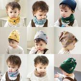 秋冬新款寶寶圍脖韓版加厚保暖嬰兒冬季純棉脖套男女套頭兒童圍巾