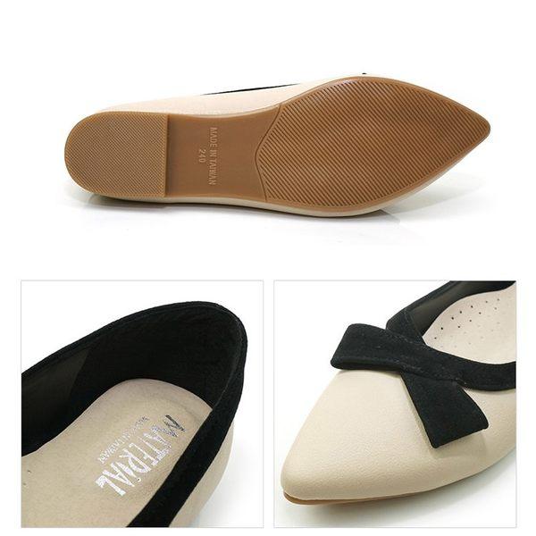 包鞋.台灣製MIT.黑絨包邊平底娃娃鞋.黑/米【鞋鞋俱樂部】【028-9474】楦頭偏窄
