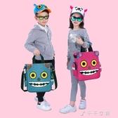 兒童補習袋小學生手提包美術袋拎書袋斜挎包男女補課書包 千千女鞋
