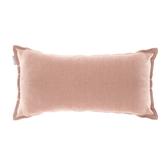 HOLA 素色織紋抱枕30x60cm梅粉色