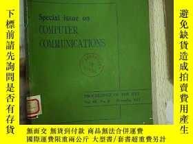 二手書博民逛書店Special罕見Issue on COMPUTER COMMU