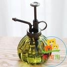 歐式噴水壺透明玻璃復古園藝小噴壺澆花瓶氣...