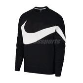 Nike 長T Sportwear Hoodie 黑 白 男款 大勾勾 長袖 上衣 大學服 大學T 黑白 【PUMP306】 AR3089-012