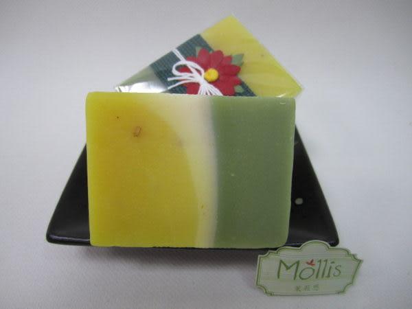 夏日特價回饋 [Mollis] 三色(香茅+檸檬+羅勒) 天然手工精油皂