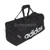 adidas 手提包 Linear Duffel Bag 黑 白 男女款 健身 行李袋 運動休閒 【ACS】 FL3651
