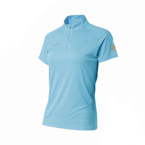 [Mammut]【亞洲限定款】(女) Performance Dry Zip T-Shirt 半門襟短袖機能排汗衫 自在藍 (1017-00430-50037)