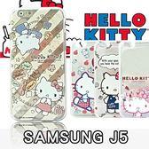 E68精品館 三麗鷗 正版 Hello Kitty 三星 J5 可愛凱蒂貓 彩繪透明殼 軟殼保護殼手機殼保護套 J500