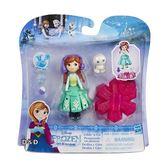 《 Disney 迪士尼 》迷你公主系列 - 安娜公主小雪人旋轉組╭★ JOYBUS玩具百貨
