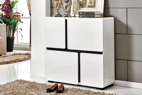 【南洋風休閒傢俱】組合櫃系列 -卡司3.3尺白色鞋櫃 現代簡約時尚鞋櫃   JF304-2