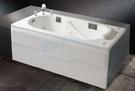 【麗室衛浴】BATHTUB WORLD 長型壓克力浴缸 LS-7150C 帶牆 150*75*55cm