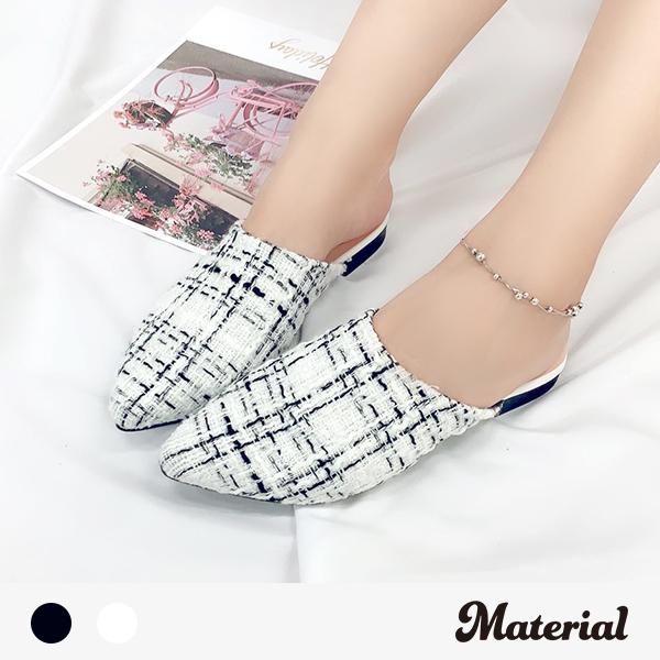 懶人鞋 時尚尖頭平底拖鞋 MA女鞋 T2935