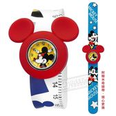 Disney 迪士尼★贈錶帶 / MK-14097W / 米奇米妮 一拍即合 兒童錶 卡通錶 拍拍錶 矽膠手錶 黃紅x白 32mm