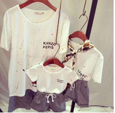 夏季親子純棉短袖T恤套裝BS16012『時尚玩家』