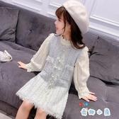 女童連身裙秋冬背心裙兒童毛衣洋氣裙【奇趣小屋】