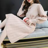 毛衣裙 超火毛衣裙女套頭中長款秋冬季新款寬鬆網紅慵懶風針織連身裙走心小賣場