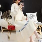 洋裝 過膝毛衣裙女士寬鬆中長款網紅秋裝2020年新款慵懶風很仙的連衣裙