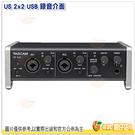 達斯冠 TASCAM US 2x2 USB 錄音介面 公司貨 2x2 OX X數位 支持 Windows Mac 吉他 直播 動態 錄音