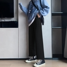 闊腿褲女褲直筒高腰垂墜感春夏季束腳百搭顯瘦寬松休閒褲子女ins 橙子精品
