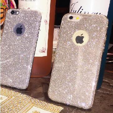 [24hr 火速出貨] 蘋果 iphone 6s plus 磨砂金鑽手機保護套 手機殼 保護殼 殼 軟殼 tpu 閃粉 金蔥 亮片