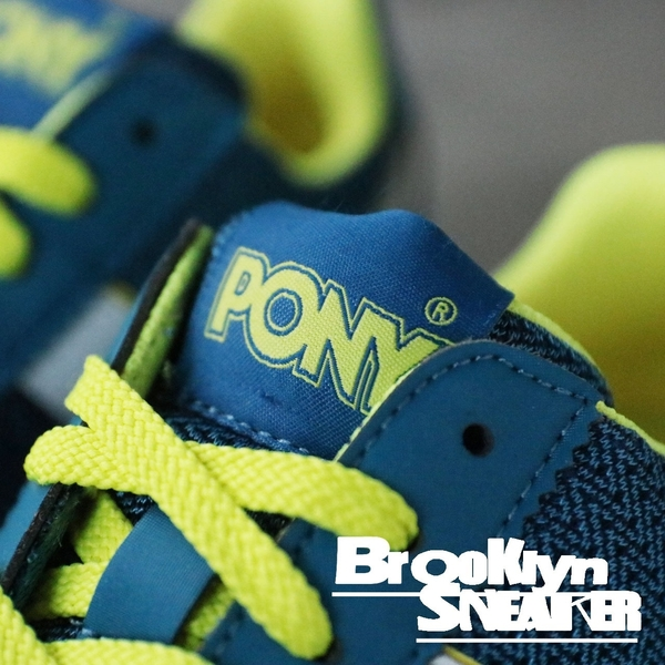 PONY 藍黃 慢跑 休閒 透氣 女生 (布魯克林) 63W1SO65DB