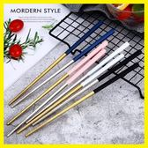 不銹鋼筷子304家用可愛彩色筷子家庭裝