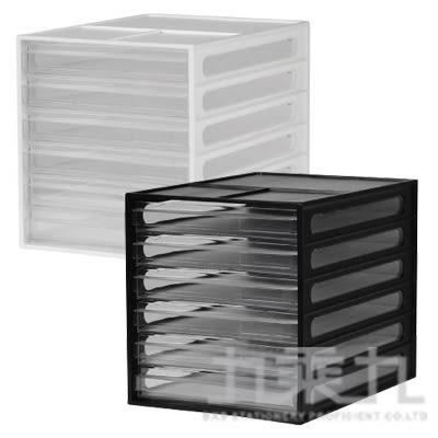 樹德 桌上型資料櫃-白/黑 DD-1206 (顏色隨機)