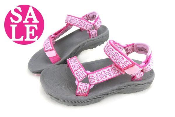美國TEVA涼鞋 中大童 HURRICANE 2 經典織帶運動涼鞋 零碼出清 H6876#粉◆OSOME奧森童鞋