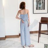 連身褲沙灘裙褲女新款連衣褲泰國度假旅行一字領連體褲露肩荷葉邊長褲子 創想數位