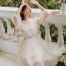 網紗洋裝 裙子夏天連身裙女夏學生小個子超仙的仙女裙森系網紗裙-Ballet朵朵