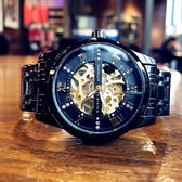 2018新款手錶男士機械錶男錶全自動防水精鋼鏤空夜光運動潮流學生 快速出貨